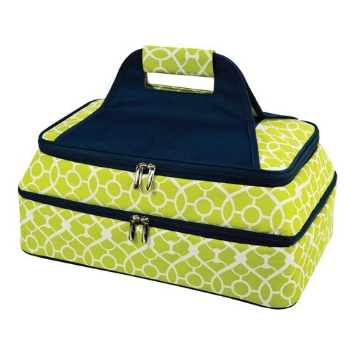 "Picnic at Ascot Two Layer Thermal Food Carrier  6.5"" x 18"" x 11"""