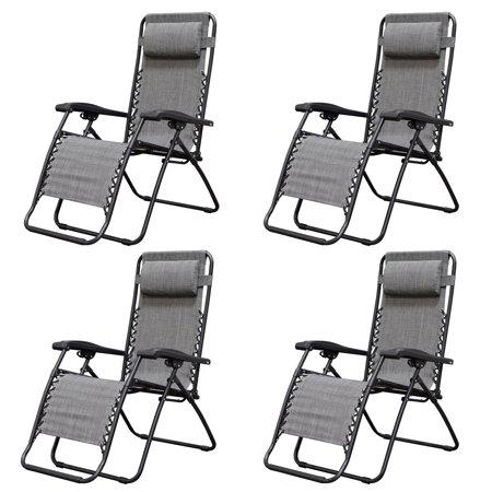 Remarkable Caravan Canopy Infinity Zero Gravity Steel Frame Patio Deck Chair Grey 4 Pack Alphanode Cool Chair Designs And Ideas Alphanodeonline
