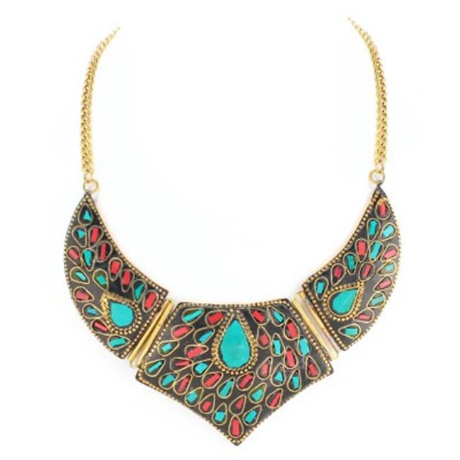 c jewelry gold plated lakh bib necklace walmart