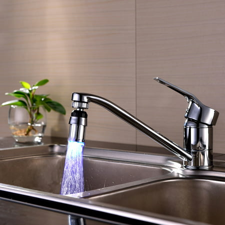 Outtop Kitchen Sink 7Color Change Water Glow Water Stream Shower LED Faucet Taps