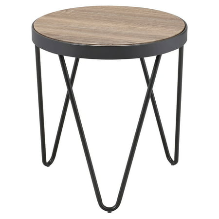ACME Bage End Table, Weathered Gray -