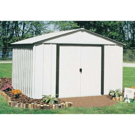 Arlington 10 x 8 ft. Steel Storage Shed Eggshell/Coffee