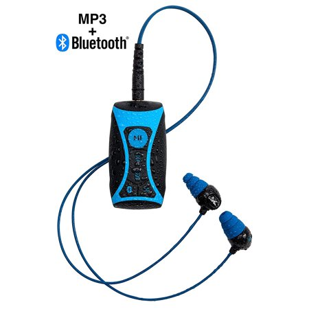 H2O Audio Stream 100% Waterproof 8GB MP3 Music Player Bluetooth, Underwater Headphones, Shuffle - Great for Fitness, Swimming, Watersports ()