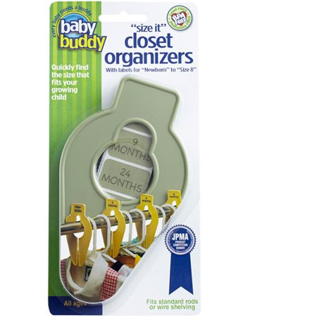Baby Buddy Size-It Closet Organizers, 5-Count, Sage Green