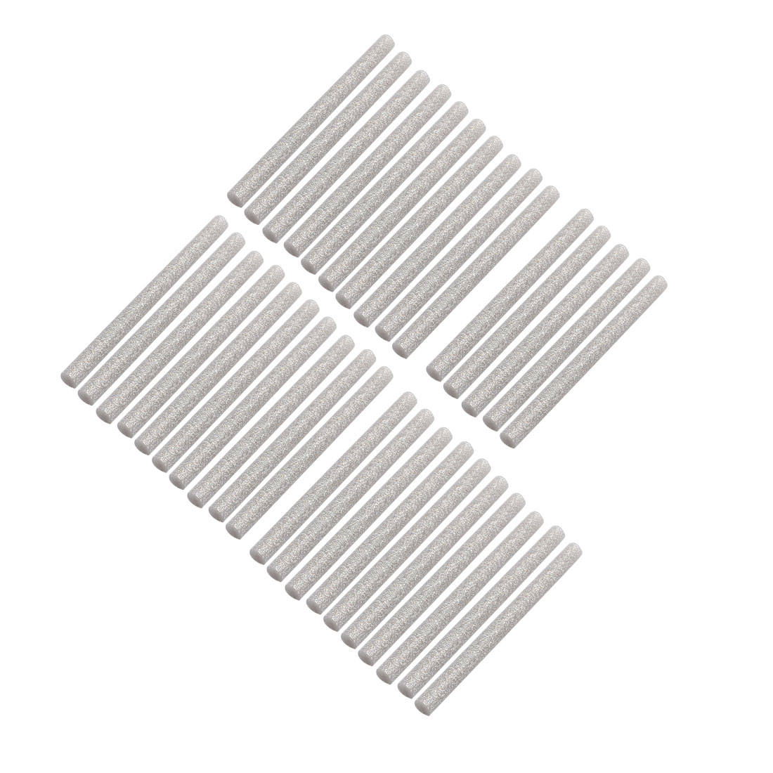 35pcs 7mm x 100mm Hot Melt Glue Sticks Silver Tone for DIY Small Craft Projects