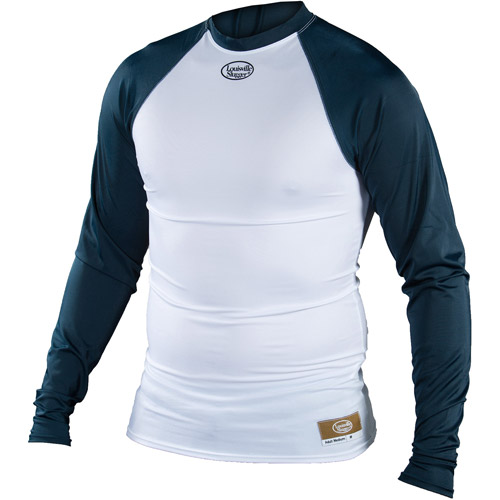 Louisville Slugger Youth Slugger Compression-Fit Long-Sleeve Shirt, White/Navy