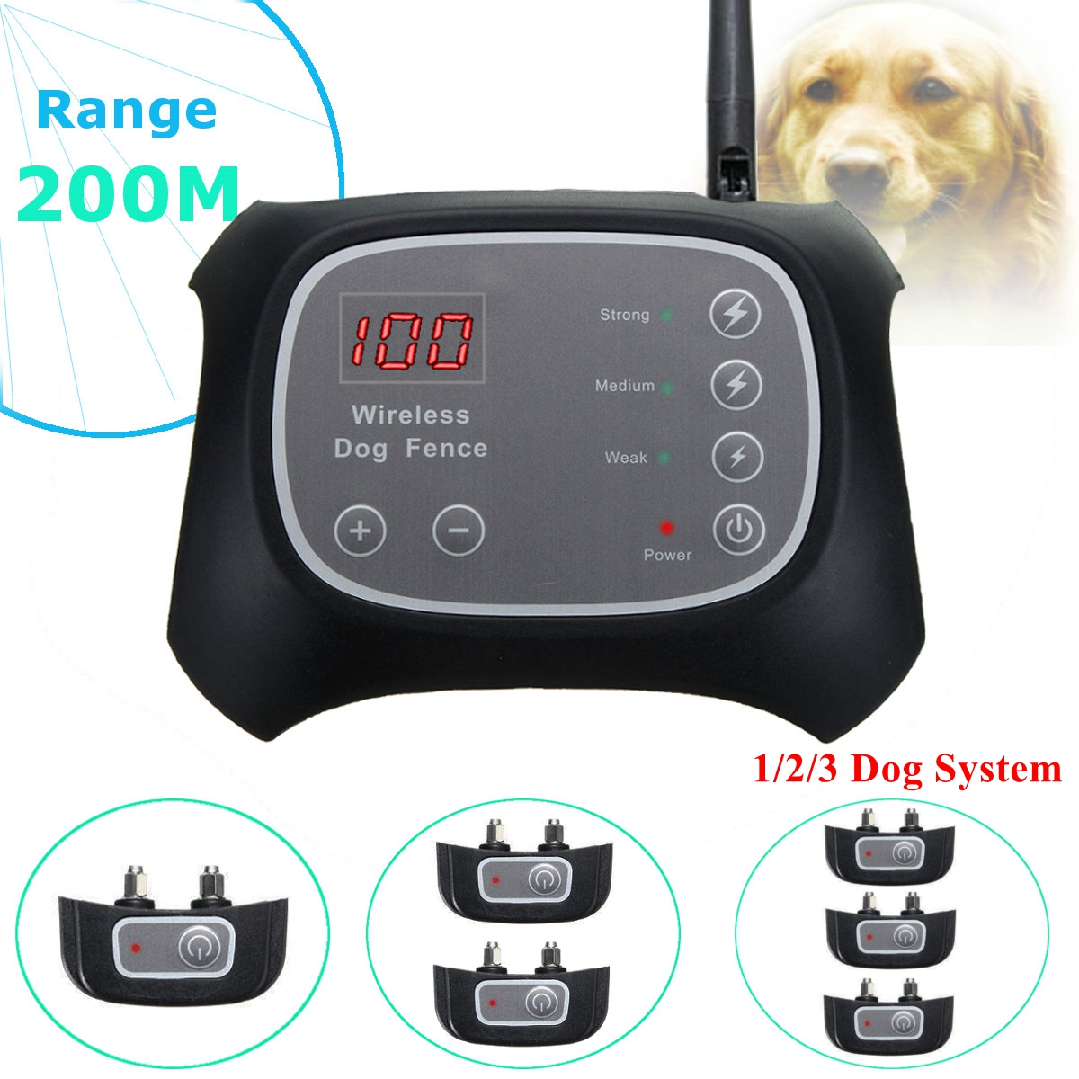 dog fence wireless containment system elegiant nowire 123 collars