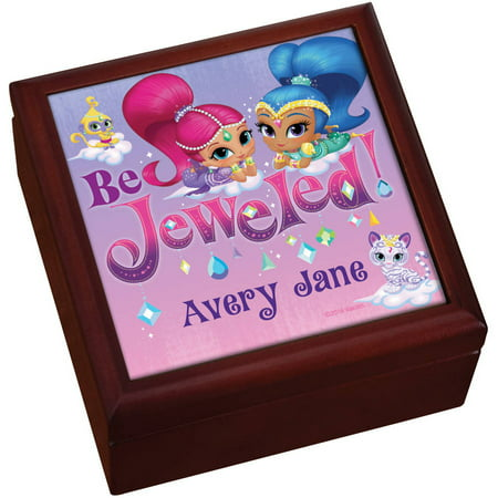 Personalized Shimmer and Shine Be Jeweled Keepsake Box, Pink