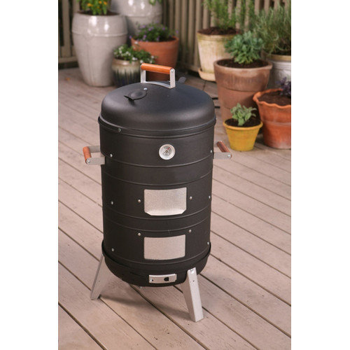 MECO Corporation 2 in 1 Charcoal Combo Water Smoker & Lock 'N Go Grill