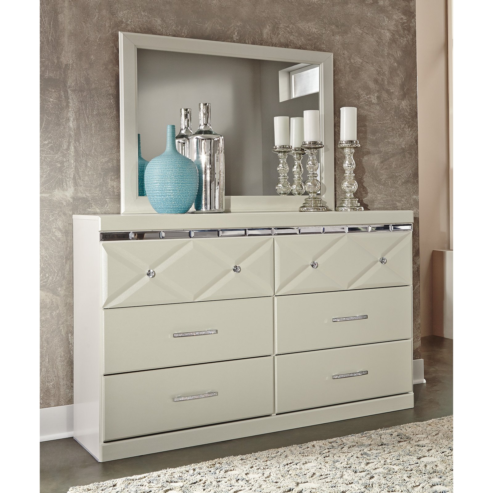 Signature Design by Ashley Dreamur 6 Drawer Dresser with Optional Mirror