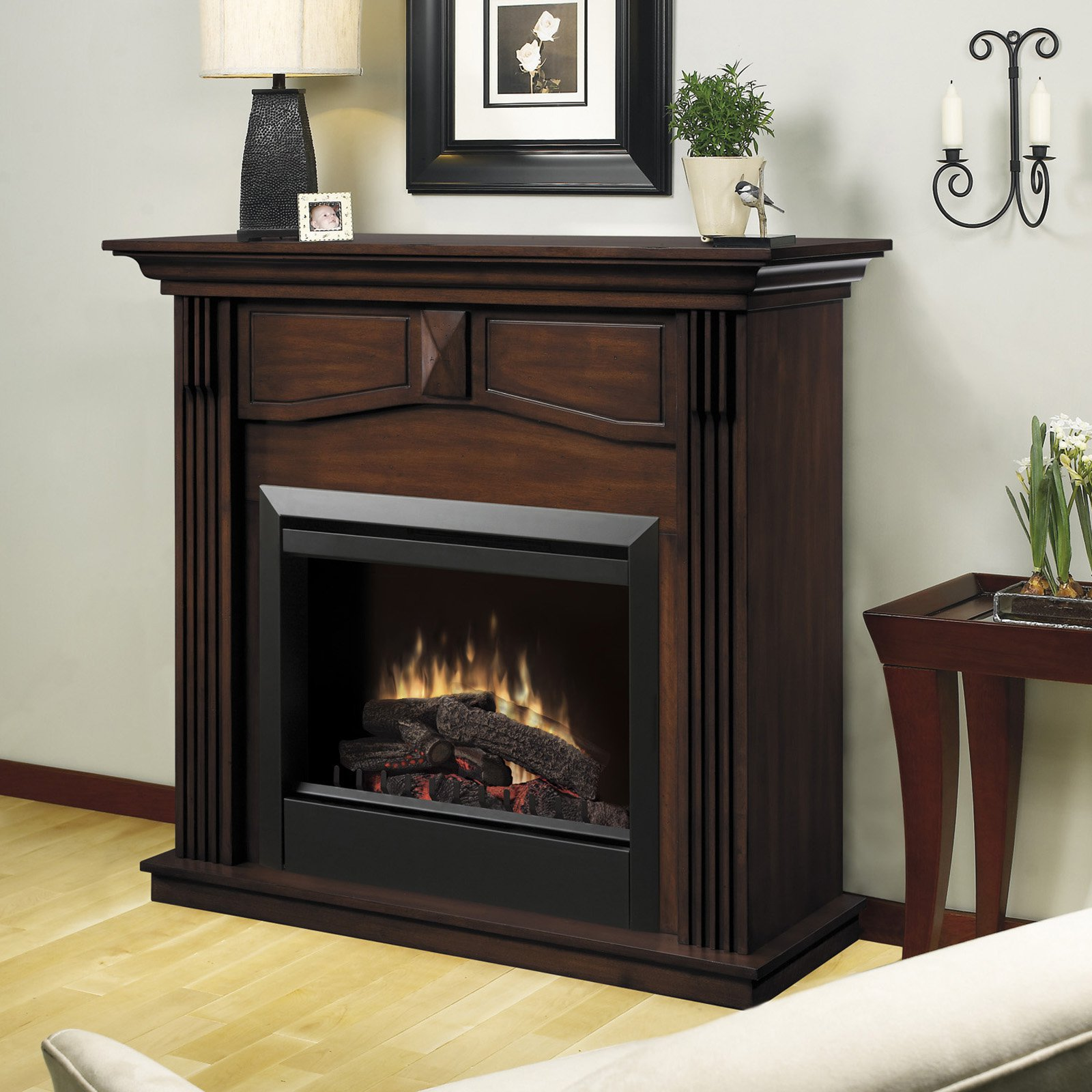 Dimplex Holbrook Mantel Electric Fireplace, Walnut