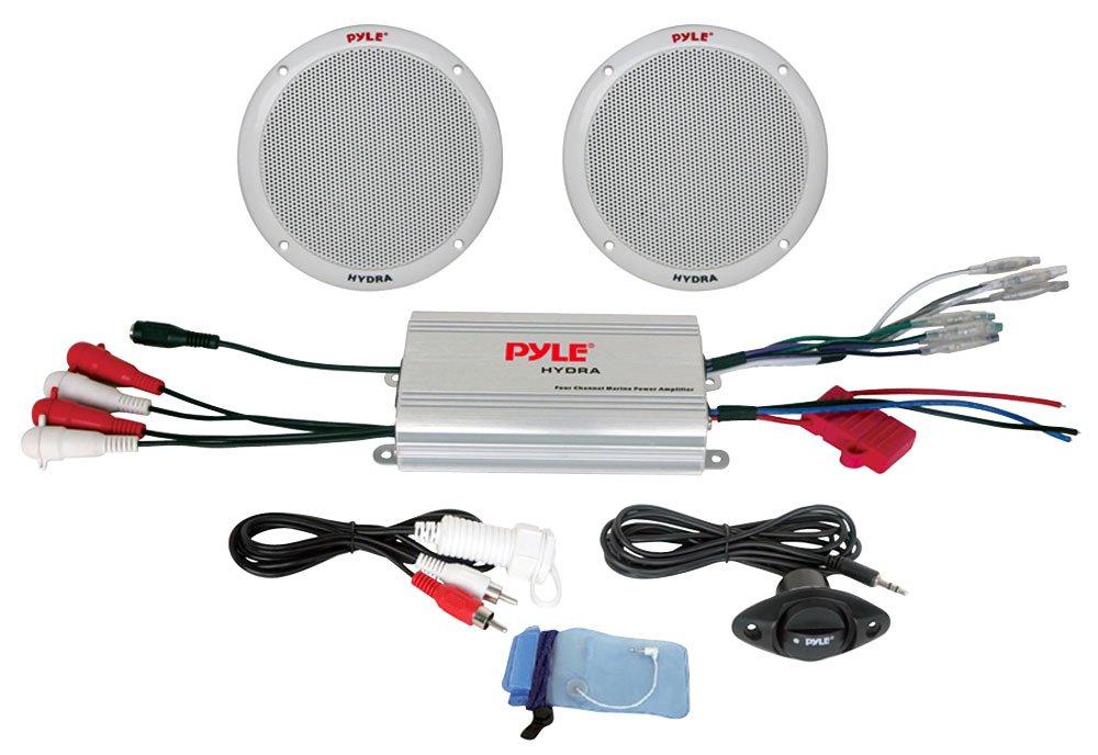 pyle plmrkt2a 2 channel waterproof mp3 ipod amplified 6 5'' marine speaker system  pyle waterproof speaker wiring diagram #15