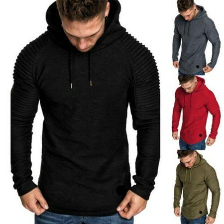 Fashion Top T-Shirt Long Sleeve Slim Fit Hooded for Men Sweatshirt Pullover Sweat Hoodies Long Sleeve Print Hat