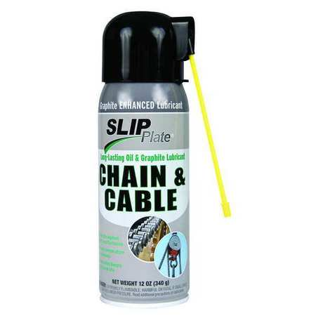 Slip Plate 35201G 12 oz. Chain and Cable Graphite Lubricant