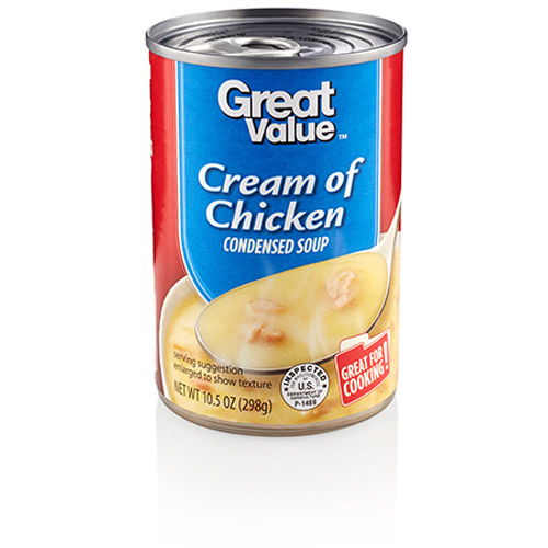 Great Value Cream Of Chicken Condensed Soup, 10.5 oz