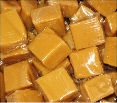Loose Wrapped Caramels, 5 Pound Bag by