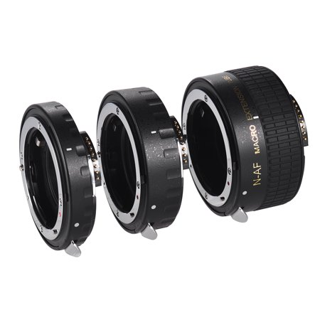 Auto Focus Macro Extension Tube Set Copper AF Macro Lens Extension Tube Ring with Covers for Nikon D300 D7000 D7100 D7200 D800 D810 D850 D5500 D5600 D5100 D5300 D3300AL Lenses Af Extension Tube Set