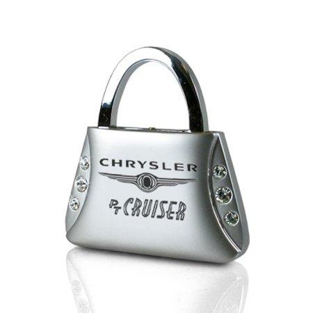 Chrysler PT Cruiser Clear Crystals Purse Shape Key Chain ()