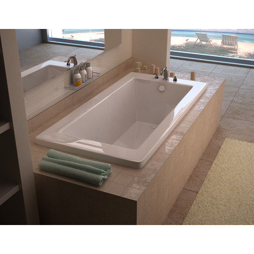 Spa Escapes Guadalupe 66'' x 32'' Rectangular Soaking Bathtub with Reversible Drain