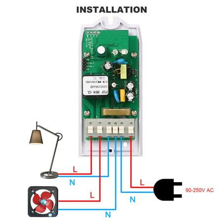 SONOFF Switch double WIFI Smart ITEAD à deux canaux Fonctionne avec Amazon Alexa & pour Google Home / Commutateur de télécommande sans fil Nest Universal Module d'automatisation 100-240V CA Sm - image 3 of 7