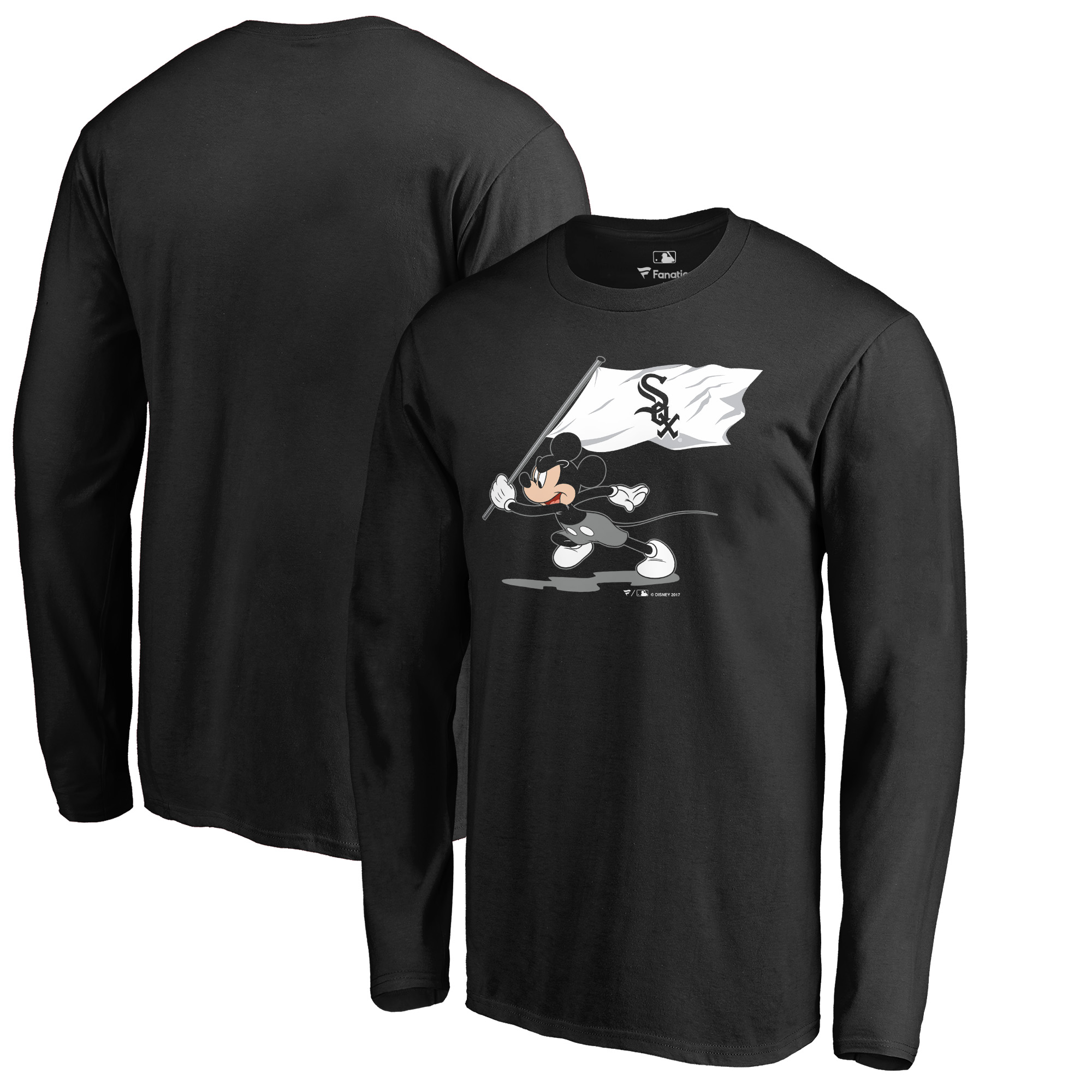 Chicago White Sox Fanatics Branded Disney Fly Your Flag Long Sleeve T-Shirt - Black