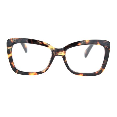 Womens Rectangle Butterfly Shape Plastic Fashion Reading Glasses Brown Tortoise +1.75](Butterfly Glasses)