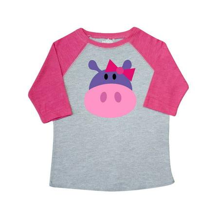 Cute Hippie Girl (Girl Hippo Toddler T-Shirt)