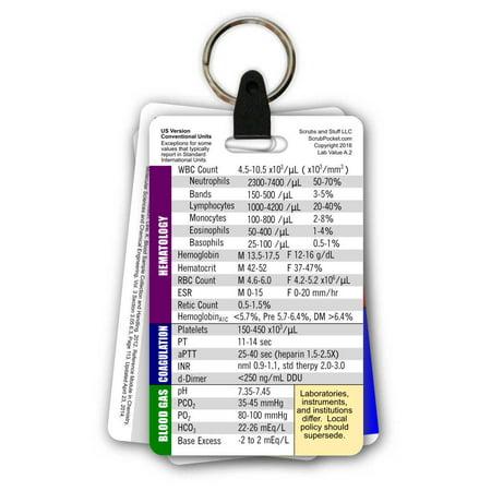 General Med Surg Badge Card Keychain