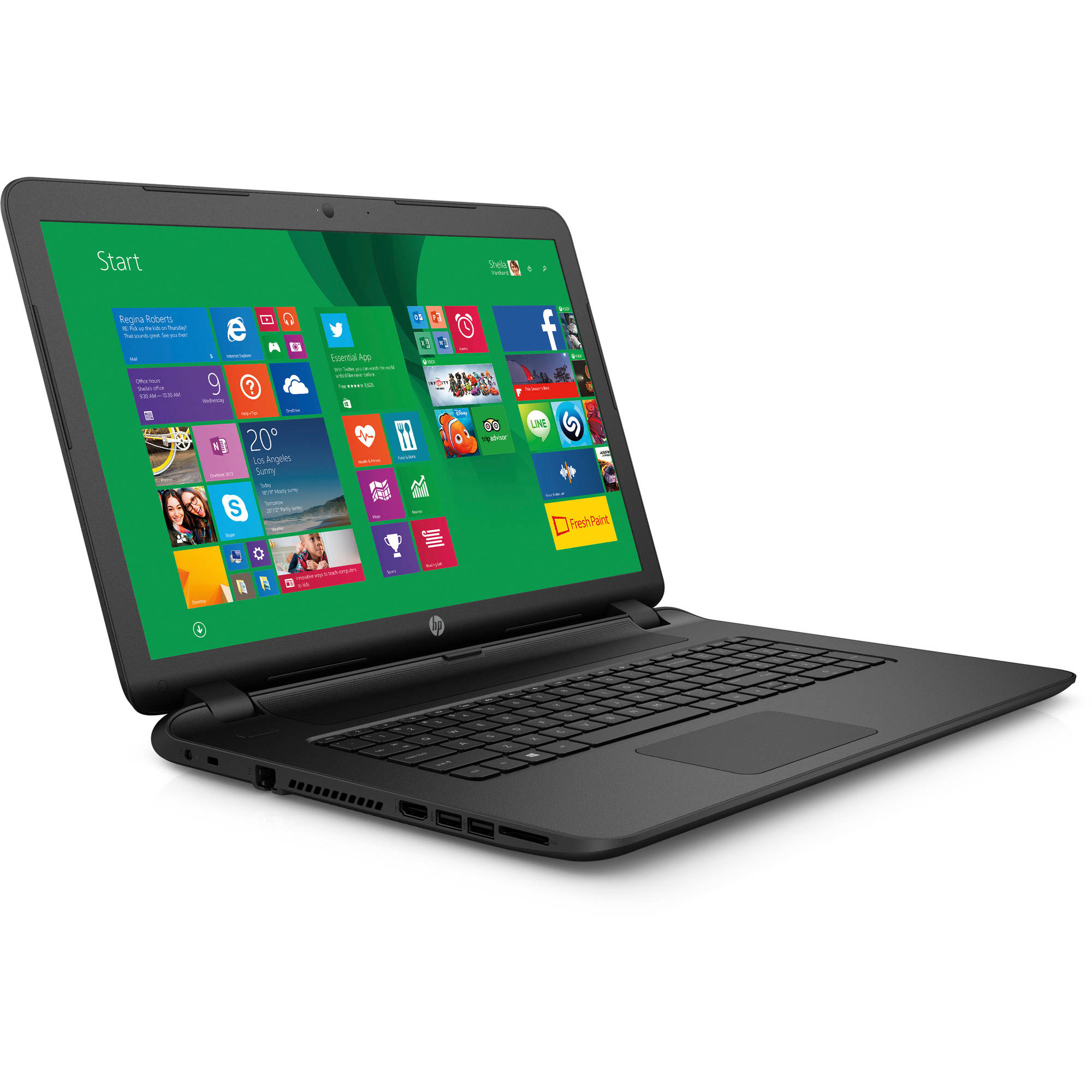 Hp notebook laptop windows 8 - Hp Black 15 6 15 F133wm Laptop Pc With Intel Celeron N2840 Processor 4gb Memory 500gb Hard Drive And Windows 8 1 Free Windows 10 Upgrade Before July 29