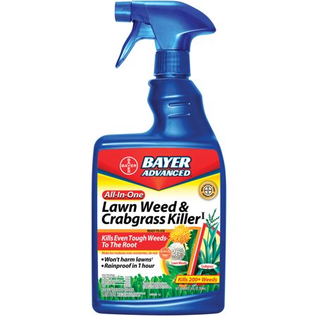 BAYER ADVANCED All-In-One Lawn Weed & Crabgrass Killer 24 oz