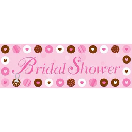 Bridal Shower 'Bride 2 Be Dots' Giant Plastic Banner (1ct)](Here Comes The Bride Banner)