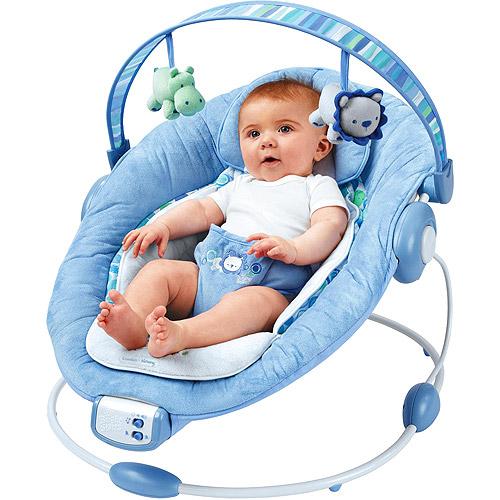 Bright Starts - Comfort & Harmony Cradling Bouncer, Blue Pebbles