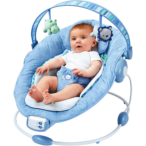 Bright Starts - Comfort & Harmony Cradling Bouncer, Blue Pebbles