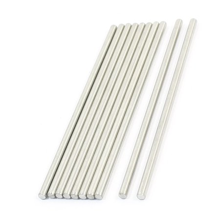 Unique Bargains 10 Pcs Rc Toy Car Frame Round Stainless Steel Straight Rods Axles 3Mmx90mm