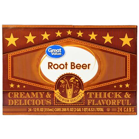 Great Value Root Beer, 12 Fl Oz, 24 Count - Root Beer Barrels