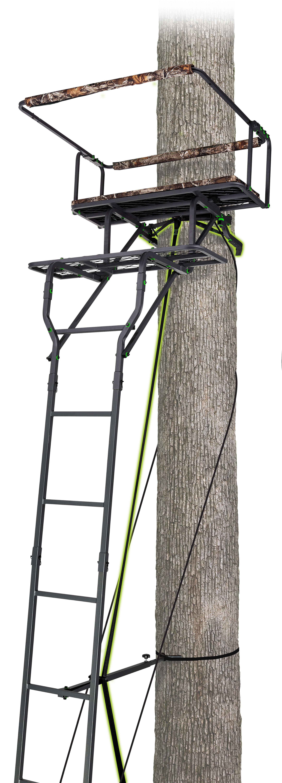 Realtree 15 Two Man Ladderstand W Jaw System Brickseek