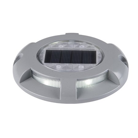 Solar Deck Lights 4-LED Driveway Light Aluminum Waterproof Outdoor Path Road Stairs Step Ground Lamp for Pathway Garden Patio Yard Decoration - image 1 de 7