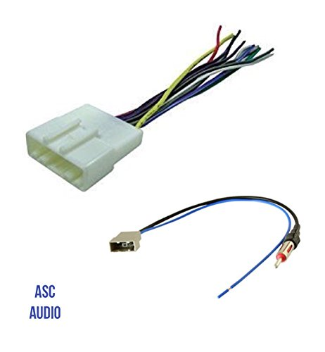 asc audio car stereo radio wire harness and antenna adapter to aftermarket radio for some infiniti nissan subaru etc listed below Headlight Harness Adapter