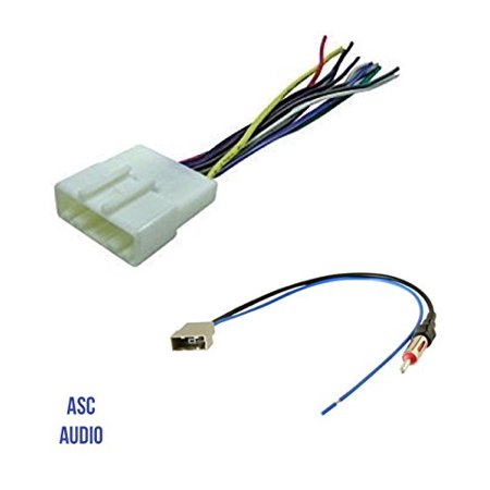 ASC Audio Car Stereo Radio Wire Harness and Antenna Adapter to Aftermarket on