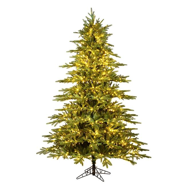 Vickerman K184481LED 9 ft. x 68 in. Kamas Fraser Fir Artificial Christmas Tree with 2200 Warm White Low Voltage 3 mm LED Light & 5783 Tip Count - image 1 de 1