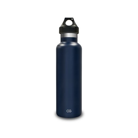 Blue Water Sailor (Omnigates Double Walled Vacuum Insulated Stainless Steel Leak Proof Sports Water Bottle with BPA Free Cap, Standard Mouth, Sailor Blue 21 fl. Oz. )