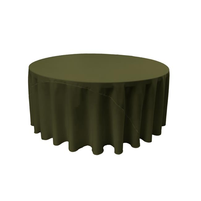 LA Linen TCpop132R-OliveP21 Polyester Poplin Tablecloth, Olive - 132 in. Round - image 1 de 1