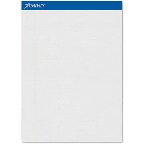 Ampad Pastels Pads, Legal/Wide Rule, Letter, Gray, 50-Sheet Pads, 12-Pack