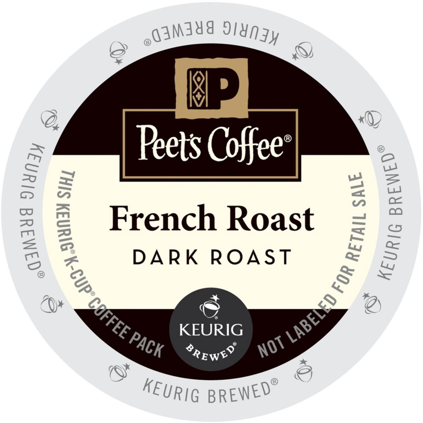 Peet's Coffee French Roast, K-Cup Portion Pack for Keurig Brewers, 88 Count