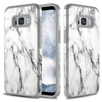 Galaxy S8 Case, Slim Fit Dual Layer Shockproof Case for Samsung Galaxy S8 - Marble