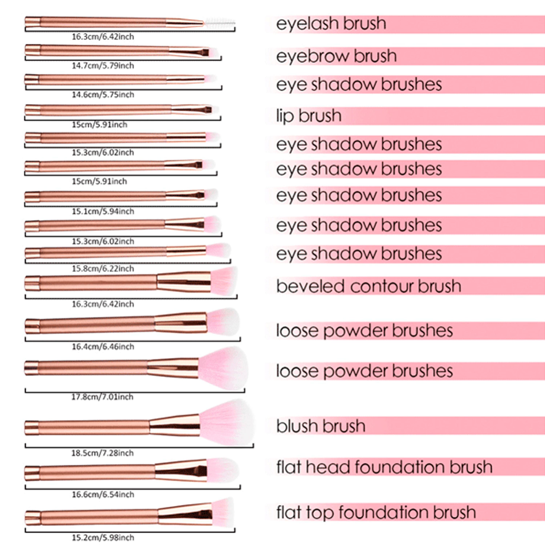 M.B.S Rose Glamour Brush Set - image 3 de 5