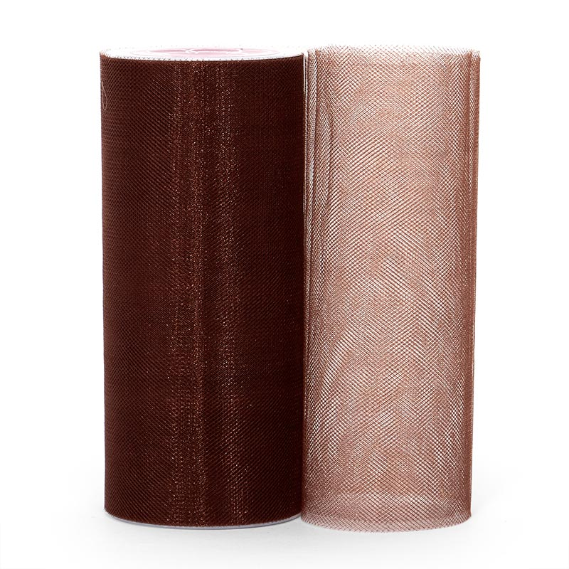 "Shimmer Brown Tulle 6"" X 25 Yards by Paper Mart"
