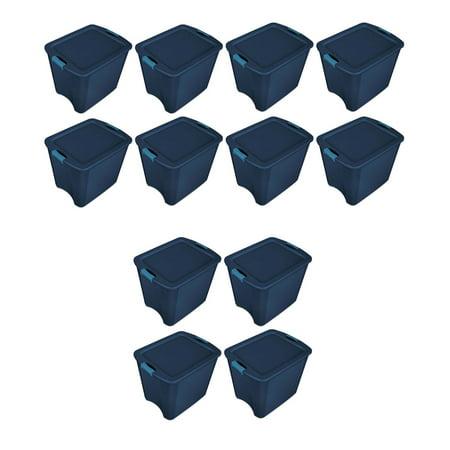 Sterilite 26 Gallon Latch and Carry Storage Tote, True Blue   14487404 (12 - Blue Tote