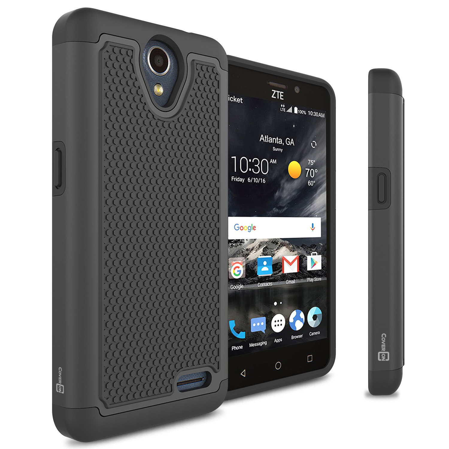 CoverON ZTE Prestige 2 / Maven 3 / Overture 3 Case, HexaGuard Series Hard Phone Cover