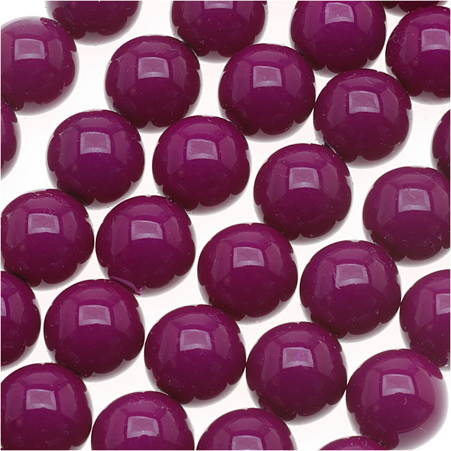 Czech Glass Round Party Beads 6mm - Neon Purple (1 Strand / 29 Beads)